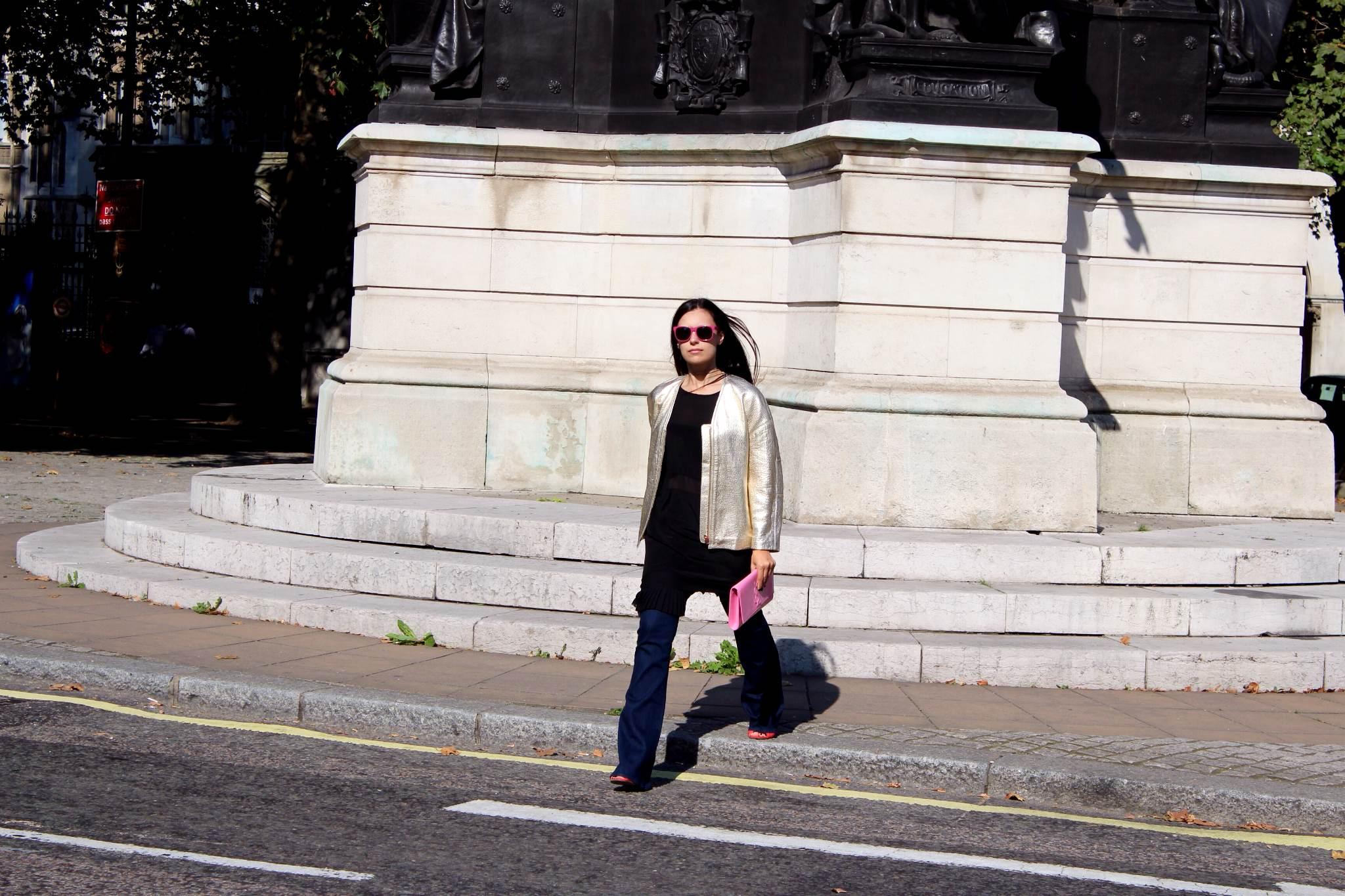 Isabel Marant gold bomber jacket