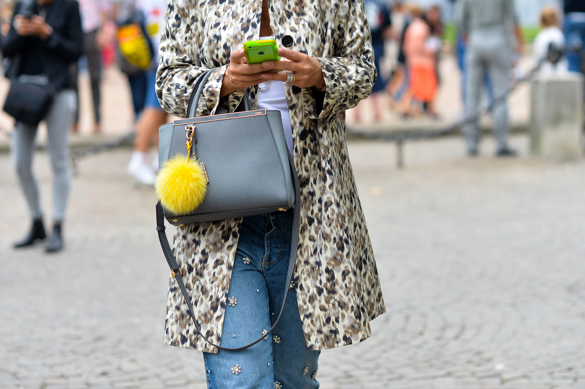 Fendi Bag, Outside Just Cavalli SS2015