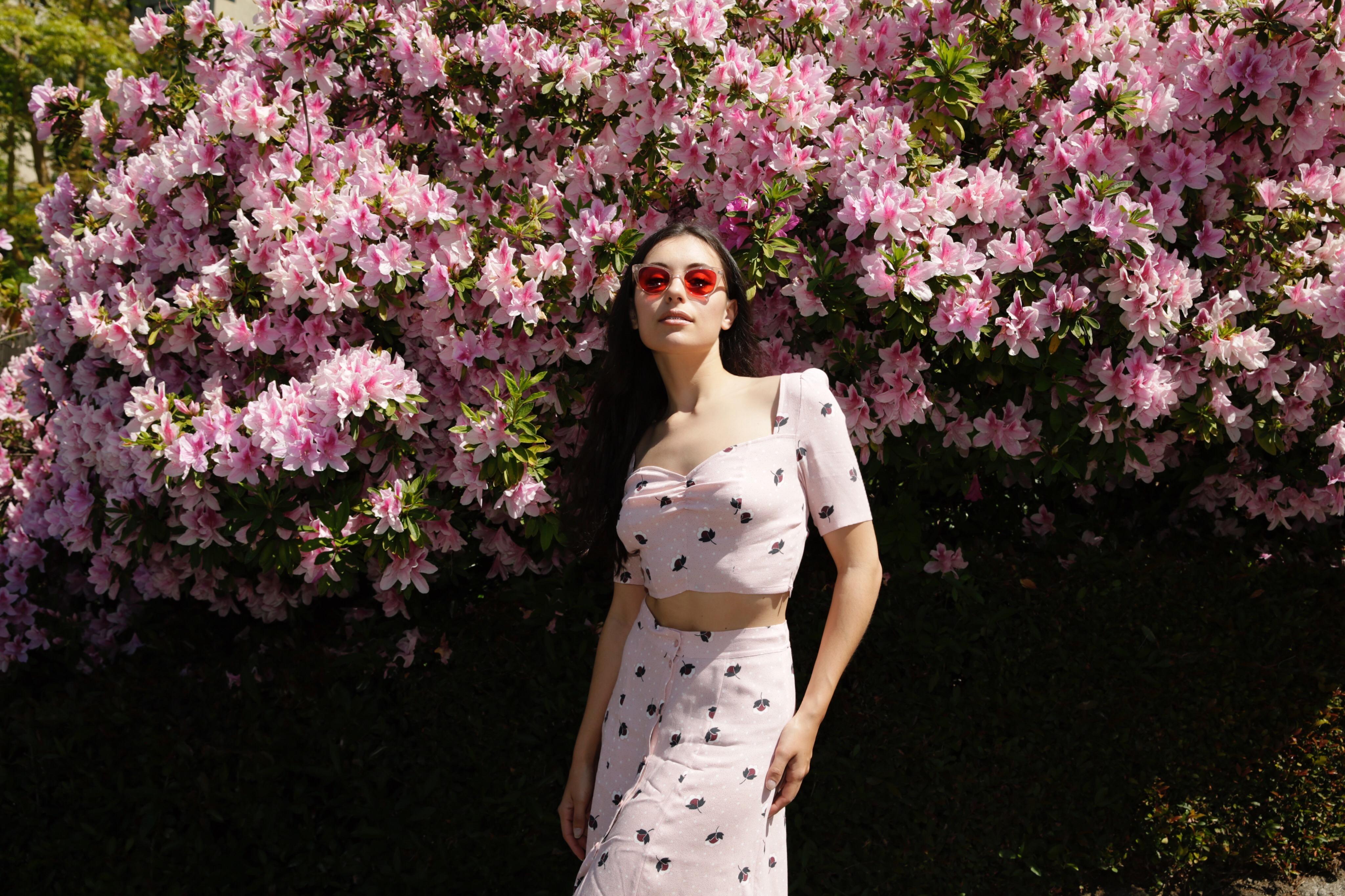 Marta Pozzan wearing a dress by & Other Stories LA