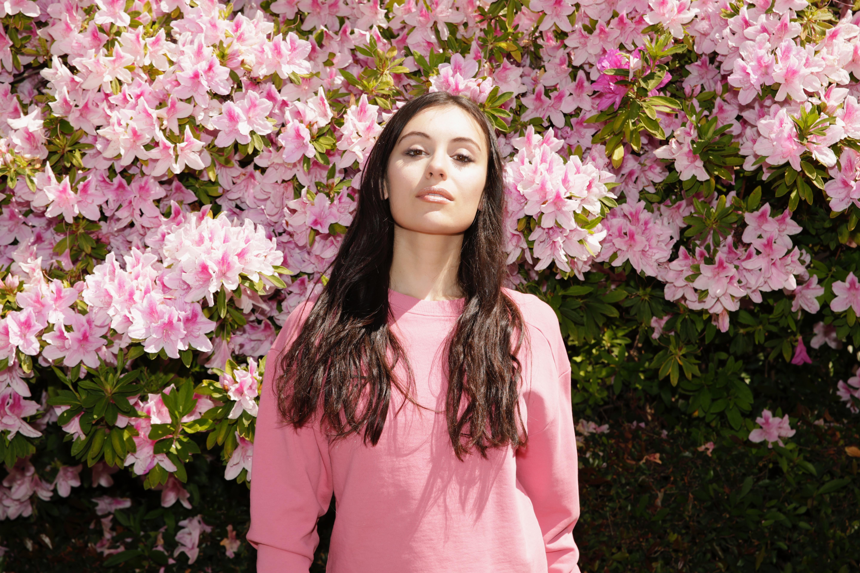 Marta Pozzan wearing a dress & Other Stories LA