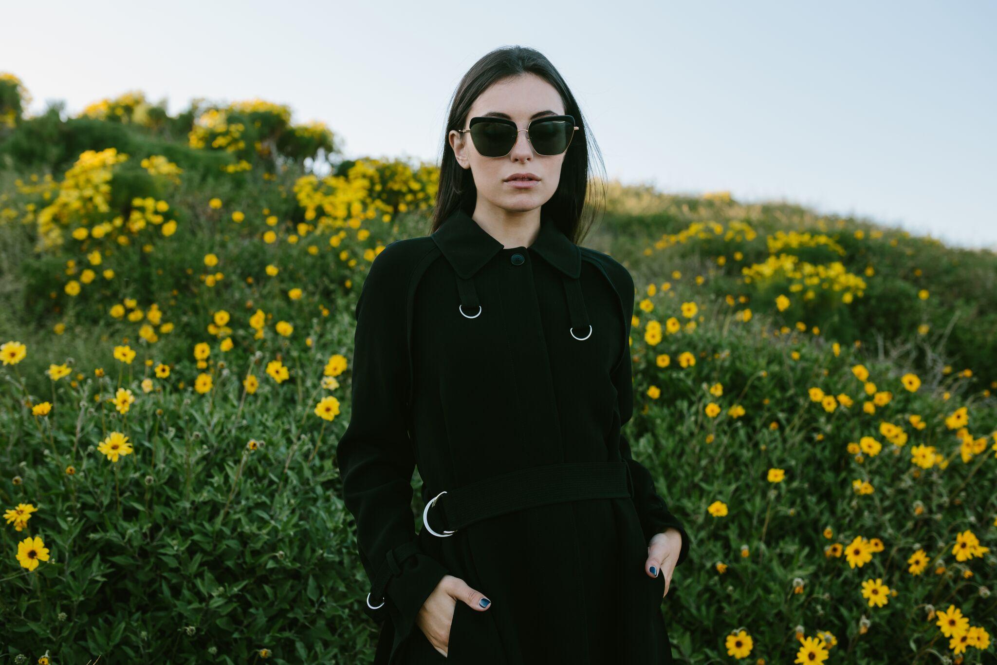Marta Pozzan wearing a coat by Elizabeth & James