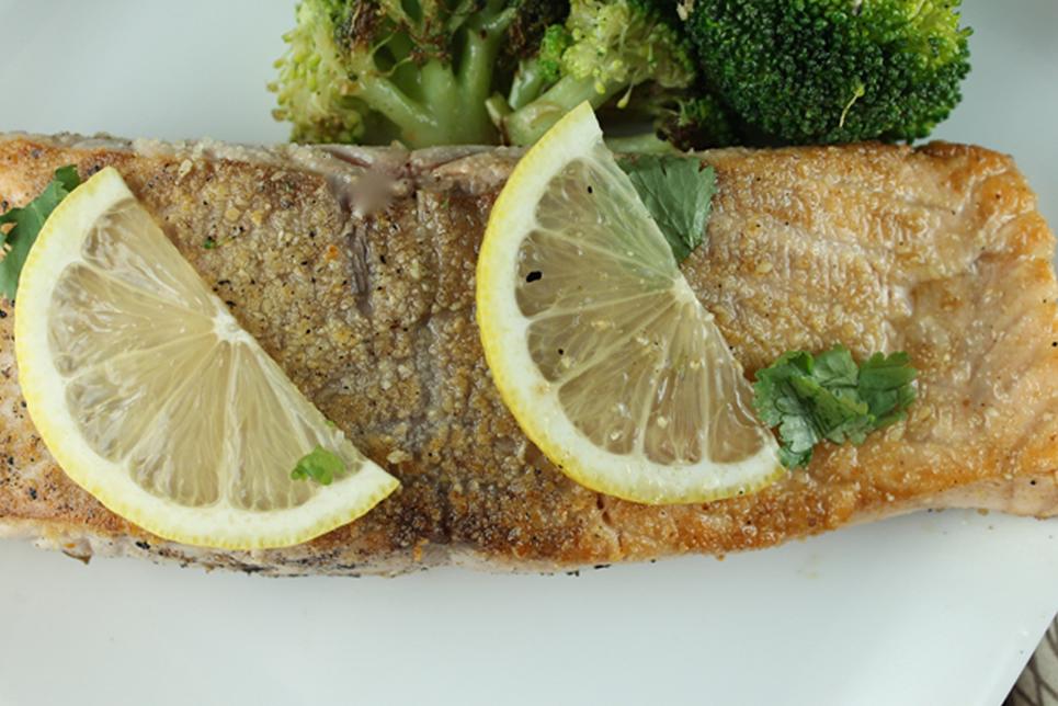 Dijon Almond Crusted Salmon