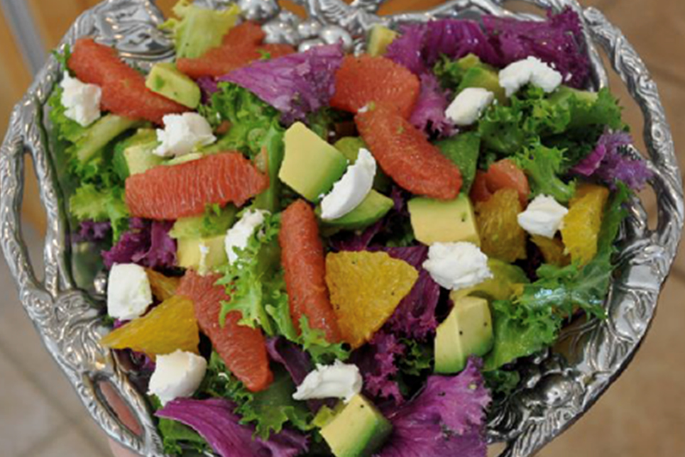 Grapefruit, Goat Cheese & Avocado Salad