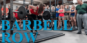 The bent over row from the floor or barbell row
