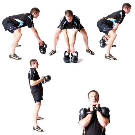 Kettle bell home workout