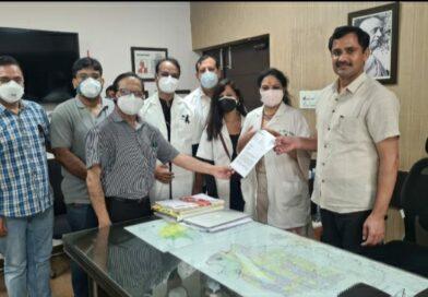 डॉक्टरों ने आज ओपीडी रखी बंद , नहीं देखे मरीज़ , प्रधानमंत्री के नाम सौंपा ज्ञापन