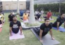 युवा भाजपा द्वारा आयोजित गोल्डी अरोडा के कार्यालय पर मना योग दिवस