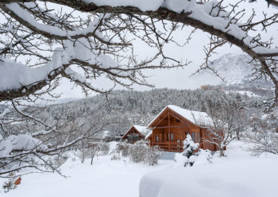 Wintertime at Chalet Carpe Diem: the gîte covered with snow