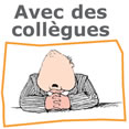French worksheets - with colleagues - image