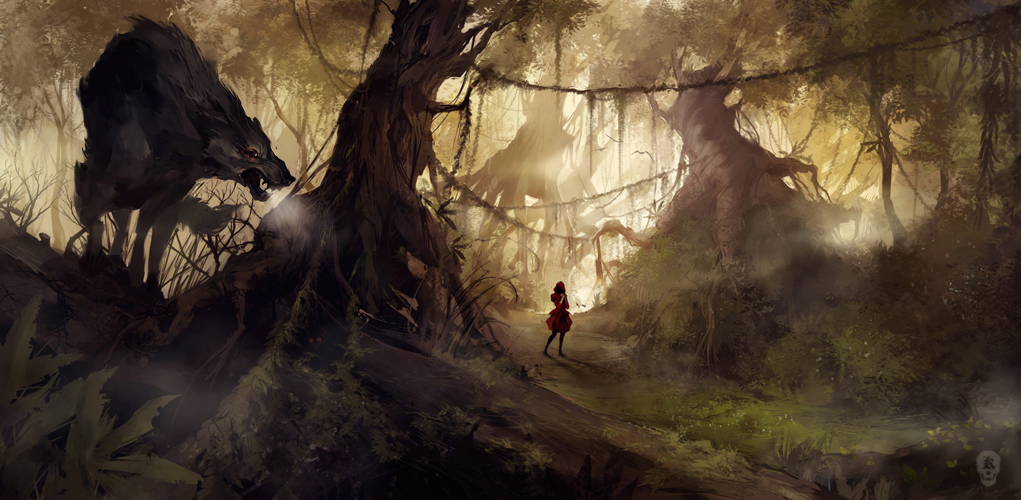 1021x500_564_The_Big_Bad_Wolf_2d_fantasy_forest_kid_wolf_child_picture_image_digital_art