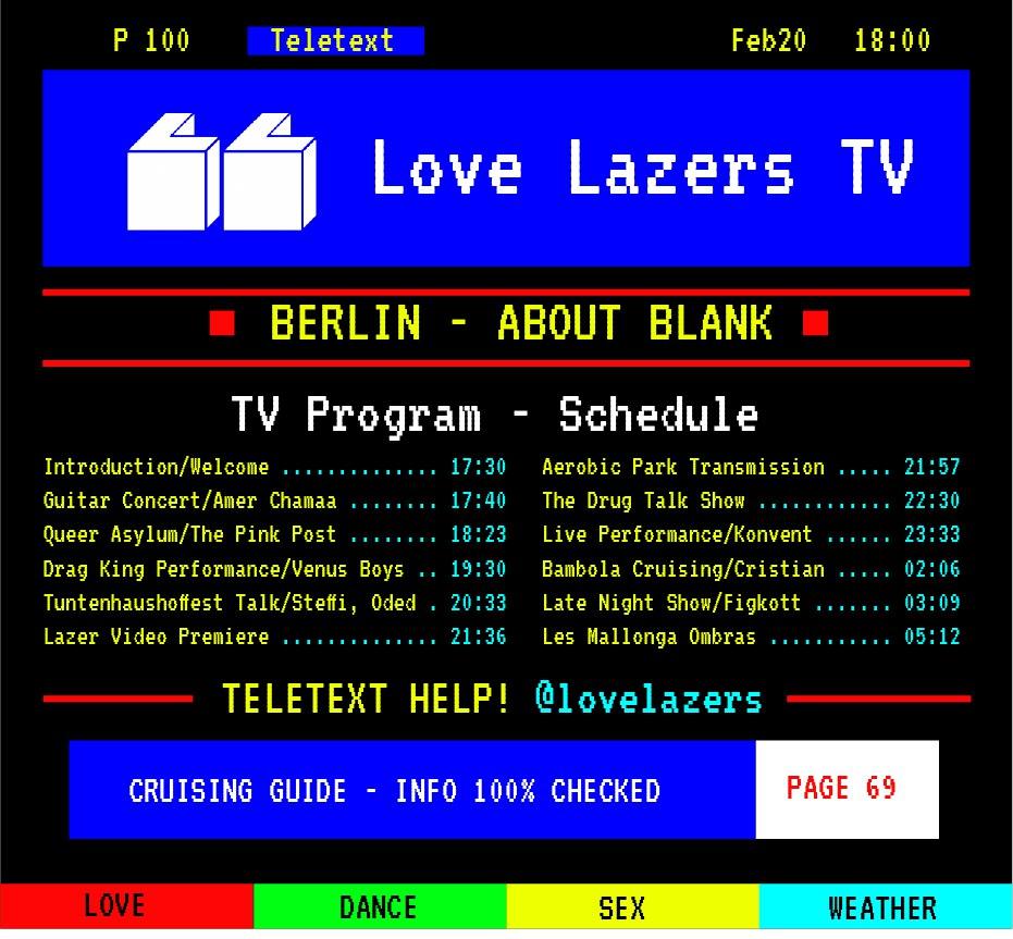 Love Lazers TV – Programm