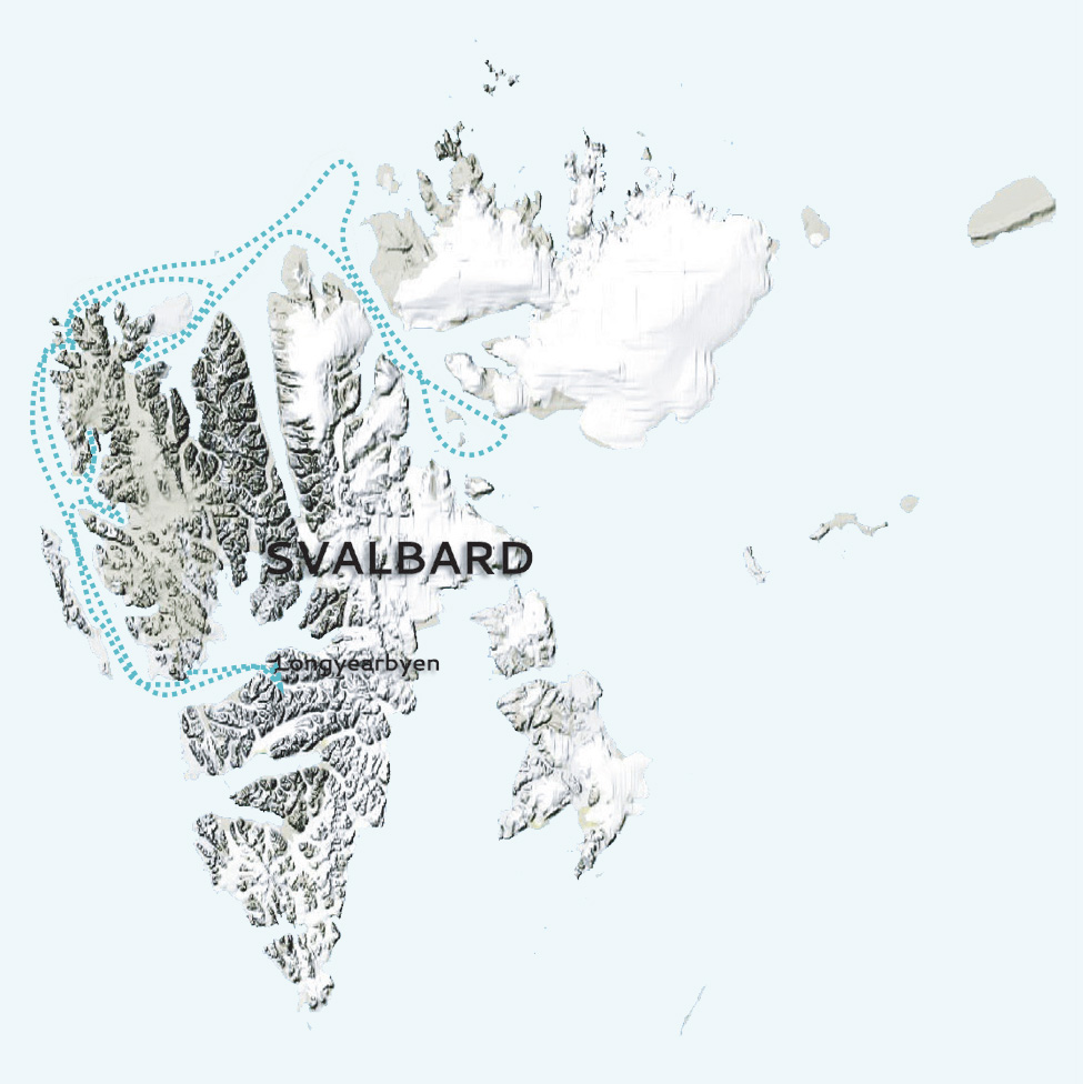 Svalbard Ice lover map