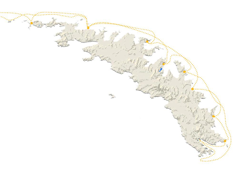 South Georgia map