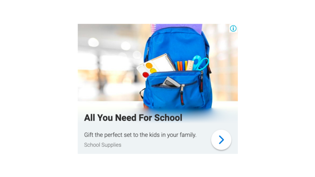 Display Ad Example: All You Need For School