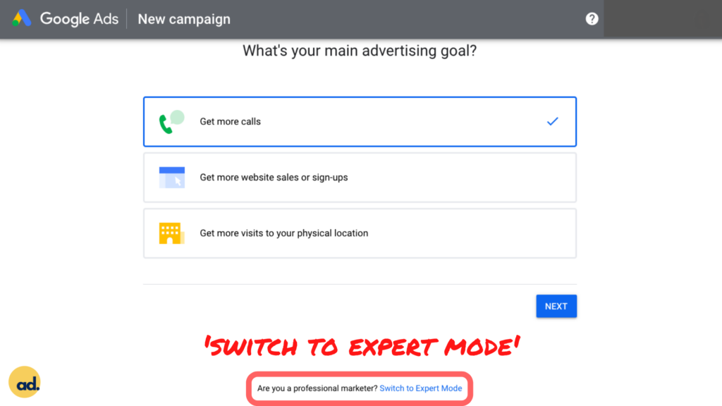 Step 2 Setting Up Google Ads Account