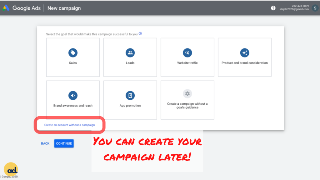Step 3 Setting Up Google Ads Account