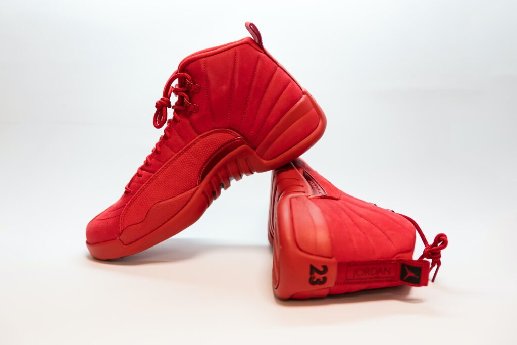 Red Nike Jordan Shoes