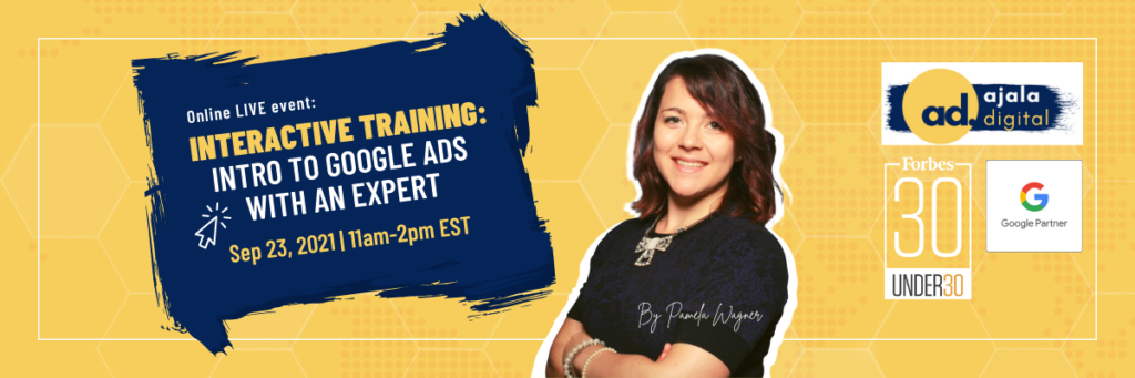 Interactive Training Intro to Google Ads with an Expert