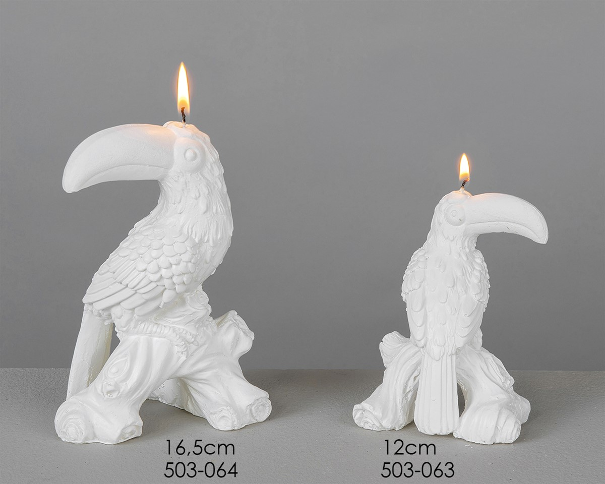 Toucan white candle - 16.5cms: £11.35