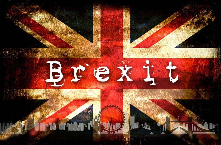 brexit the UK's leaving of the EU.