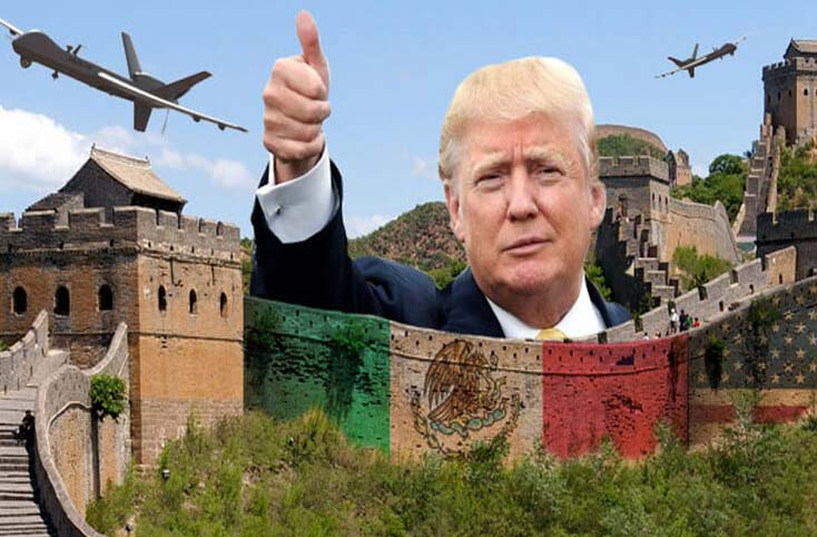 Donald Trump was going ahead with building the wall.