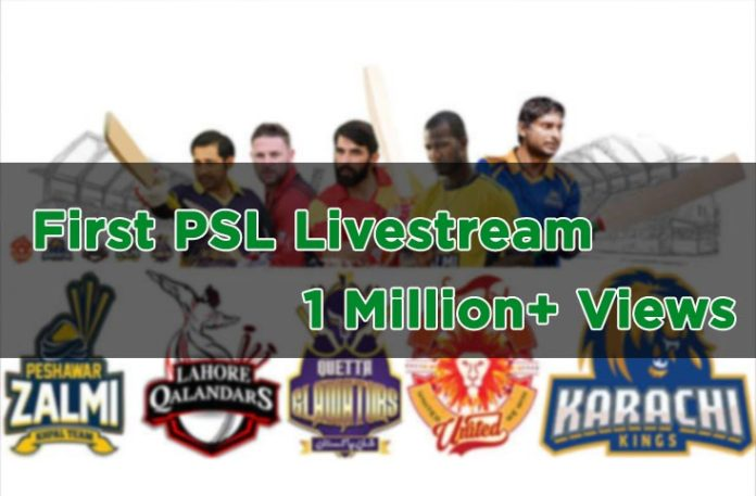 First PSL live streaming gets 1 million views