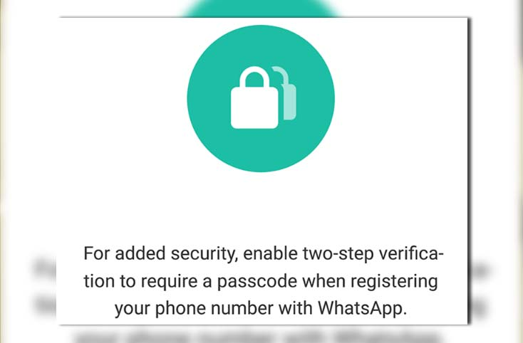 How the two-step verification of WhatsApp works