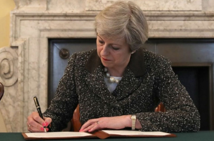 Brexit Article 50 triggered by Theresa May