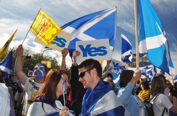 Yes Support for Scottish Independence