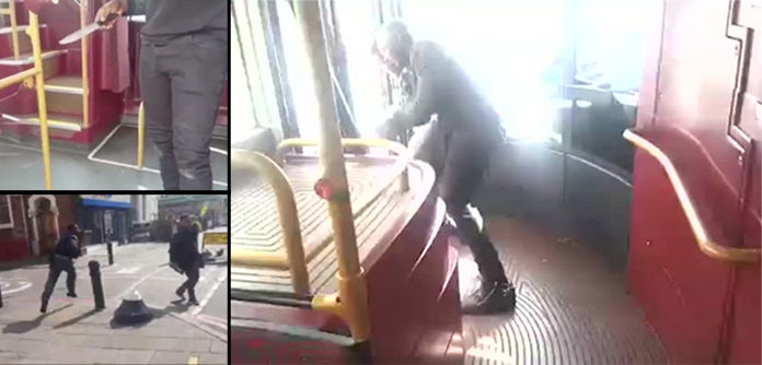 London Bus Passenger Fight With Knife Carrying Thug