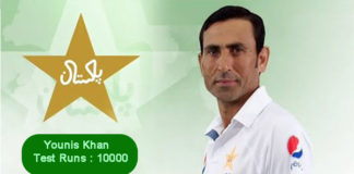 Younis Khan 10000 Runs - First Pakistani To Achieve