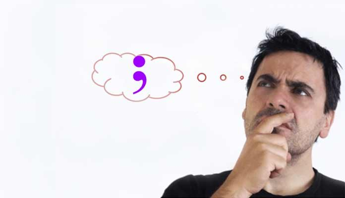 When To Use A Semicolon in the List