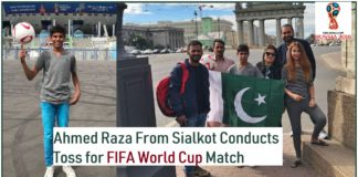 FIFA World Cup Match toss Ahmed Raza