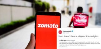 Zomato Replies to Racist Customer