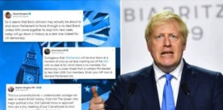 Boris Johnson Suspends Parliamnet