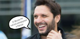 Shahid Afridi as Prime Minister of Pakistan