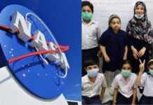 Astronauts with Pakistani Kids