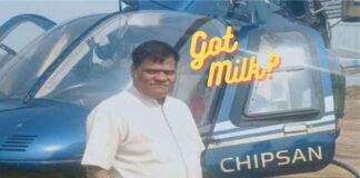 Helicopter to Sell Milk in India