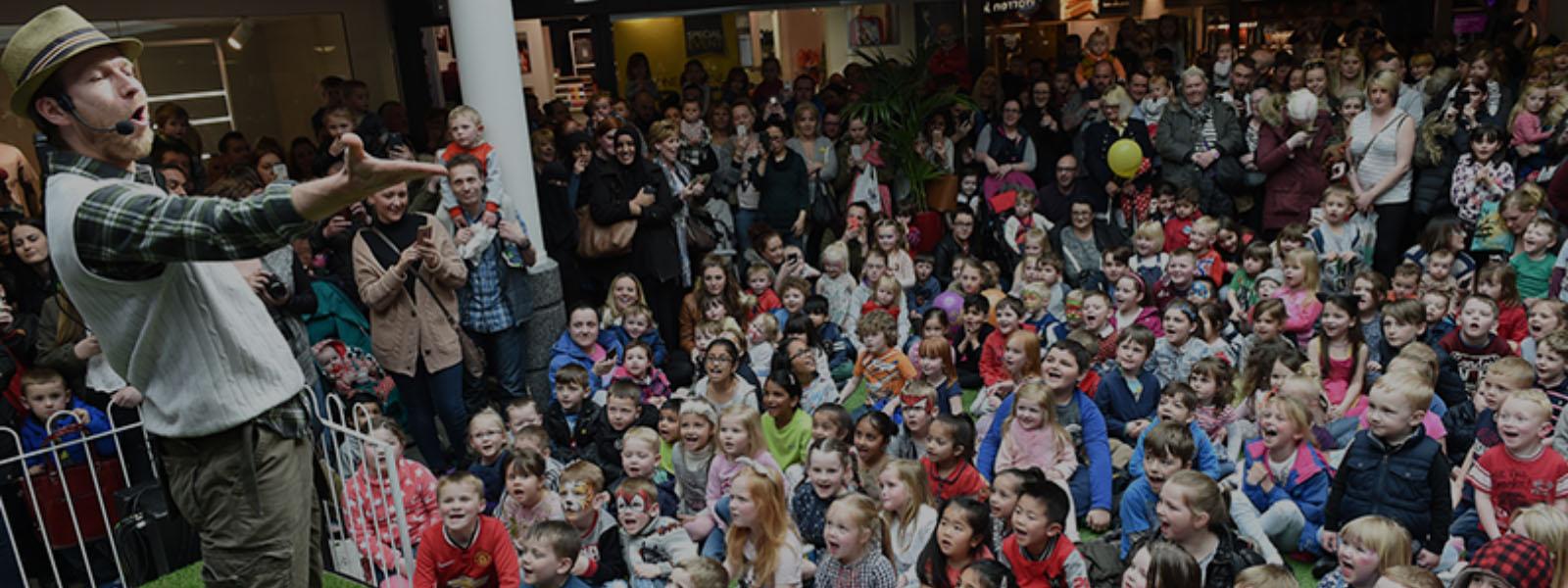 Mr Bloom CBeebies Entertains a Shopping Centre