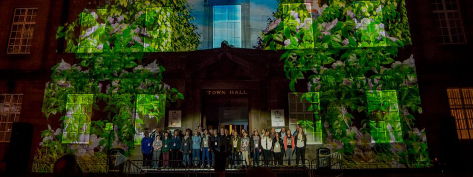 Image of UK Media and Events: Projection Mapping with Live Choir Soundtrack