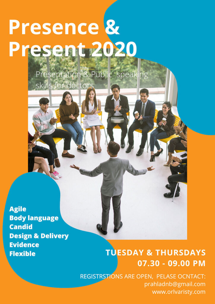 brochure update of Presence & Present 2020 program.