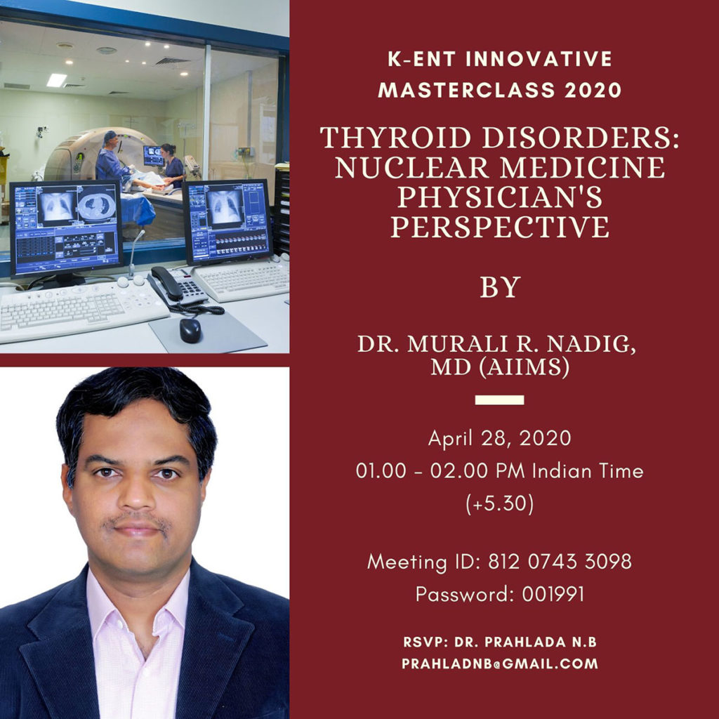 Thyroid Disorders: Nuclear Medicine Physicians's perspective.