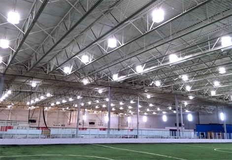 McHenry Athletic Complex - Case study - Lighting solutions - 67% reduction in energy consumption