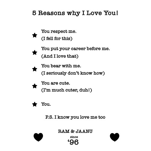 5 Reasons Why I Love You