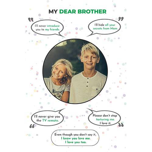 For your Sibling