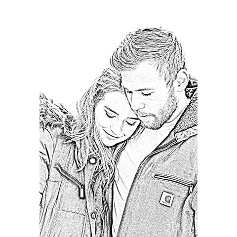 Pencil Art – Digital – Medium for Couple