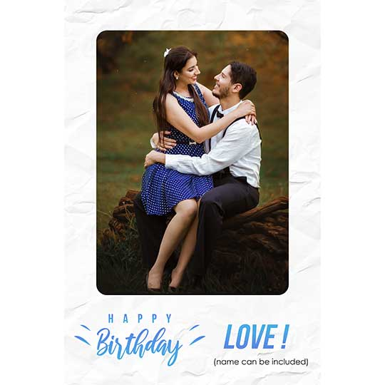 Birthday Frame for GF