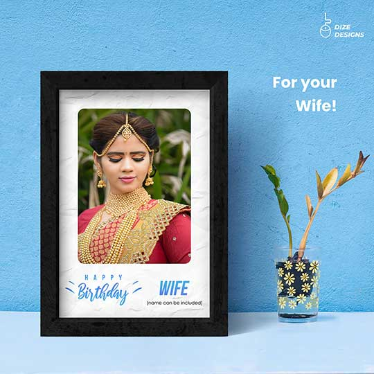 Birthday Frame for Wife