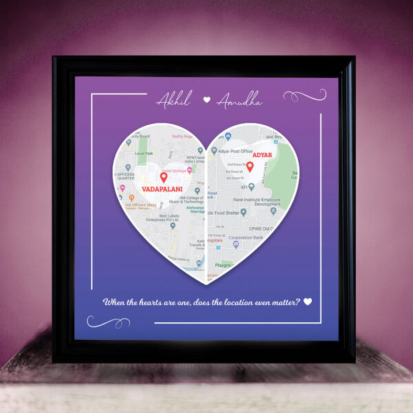 Personalized Location Map Frame