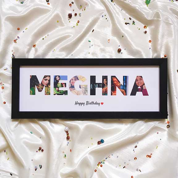 Name Photo Frame – For Her